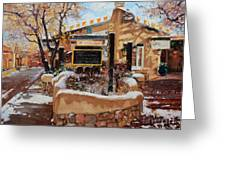 Canyon Road Winter Greeting Card by Gary Kim