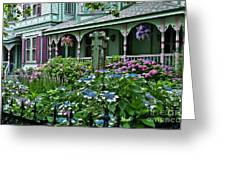 Cape May House And Garden. Greeting Card by John Greim