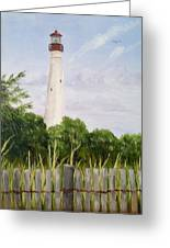 Cape May Lighthouse Greeting Card by Margie Perry