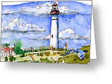 Cape May Lighthouse Study Greeting Card by John D Benson