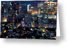 Cape Town's Tilt Shift  Greeting Card by Fabrizio Troiani