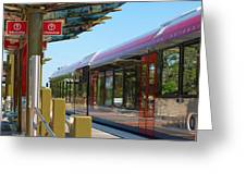 Capital Metro Rail Austin Texas Greeting Card by James Granberry
