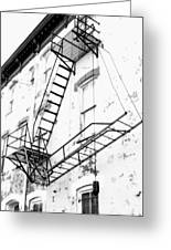 Capitol Hill Fire Escape Greeting Card by Steven Ainsworth