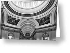 Capitol Interior Greeting Card by Ricky Barnard