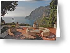 Capri Panorama Greeting Card by Italian Art