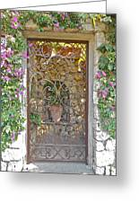 Capri-timeless Gate Greeting Card by Italian Art