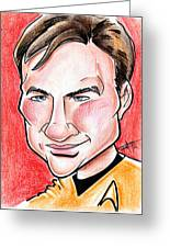 Captain James T. Kirk Greeting Card by Big Mike Roate