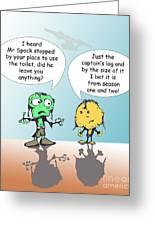 Captains Log Greeting Card by Jack Norton