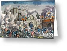 CAPTURE OF BASTILLE, 1789 Greeting Card by Granger