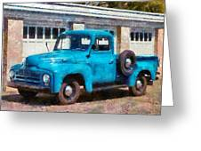 Car - Truck - An International Old Truck Greeting Card by Mike Savad