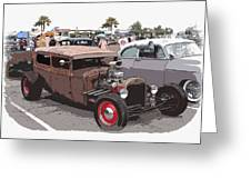 Car Show 1928 Greeting Card by Steve McKinzie