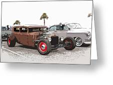 Car Show Cool Greeting Card by Steve McKinzie