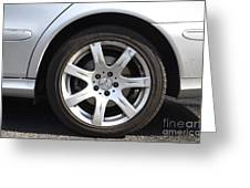 Car Wheel Greeting Card by Photo Researchers