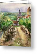 Carcassonne Greeting Card by Lydia Irving