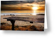 Carcavelos Beach Greeting Card by Carlos Caetano