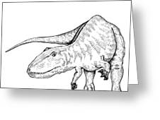 Carcharodontosaurus - Dinosaur Greeting Card by Karl Addison