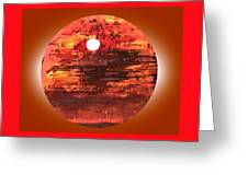 Cardboard Sunset Greeting Card by Gabe Art Inc