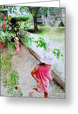 Carefree Greeting Card by Beth Saffer
