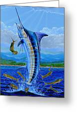 Caribbean Blue Greeting Card by Carey Chen