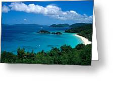 Caribbean Blue Greeting Card by Kathy Yates