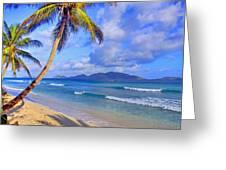 Caribbean Paradise Greeting Card by Scott Mahon
