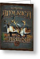 Caribou Greeting Card by JQ Licensing