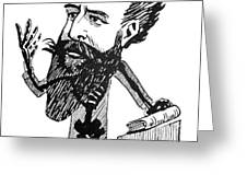 Caricature Of Roentgen And X-rays Greeting Card by