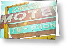 Carlyle Motel Greeting Card by David Waldo