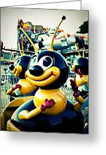 Carnival Bee Greeting Card by Sonja Quintero