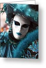 Carnival Blues Greeting Card by John Rizzuto