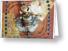 Carnival Boy Greeting Card by Anastasia Weigle