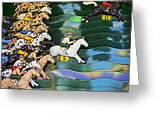 Carnival Horse Race Game Greeting Card by Garry Gay