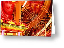 Carnival lights  Greeting Card by Garry Gay