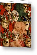 Carnival Masks For Sale Greeting Card by Jim Richardson