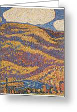 Carnival Of Autumn Greeting Card by Marsden Hartley