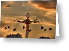 Carnival Ride Greeting Card by Nicholas  Grunas