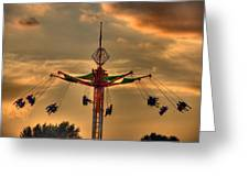 Carnival Ride Greeting Card by Nicholas  Grunas
