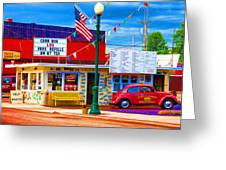 Carol's Corner Greeting Card by Mike OBrien