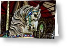 Carousel Horse 3 Greeting Card by Paul Ward
