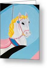 Carousel Horse Greeting Card by Lisa Marie