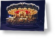 Carousel In Paris Greeting Card by Elena Elisseeva