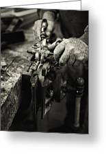 Carpenter L Greeting Card by Rob Travis