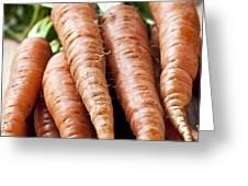 Carrots Greeting Card by Elena Elisseeva
