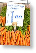 Carrots Greeting Card by Tom Gowanlock