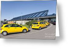 Cars Lining Up For Pickup At The Airport Greeting Card by Jaak Nilson