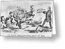 Cartoon: Election Of 1856 Greeting Card by Granger