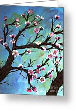 Carved In A Cherry Tree I Greeting Card by Barbara Griffin