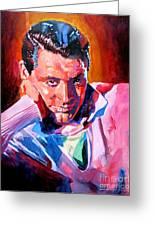 Cary Grant - Debonair Greeting Card by David Lloyd Glover