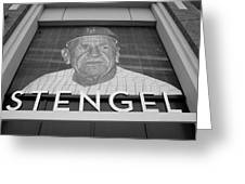 Casey Stengel In Black And White Greeting Card by Rob Hans