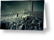 Castelgrande Bellinzona Greeting Card by Joana Kruse